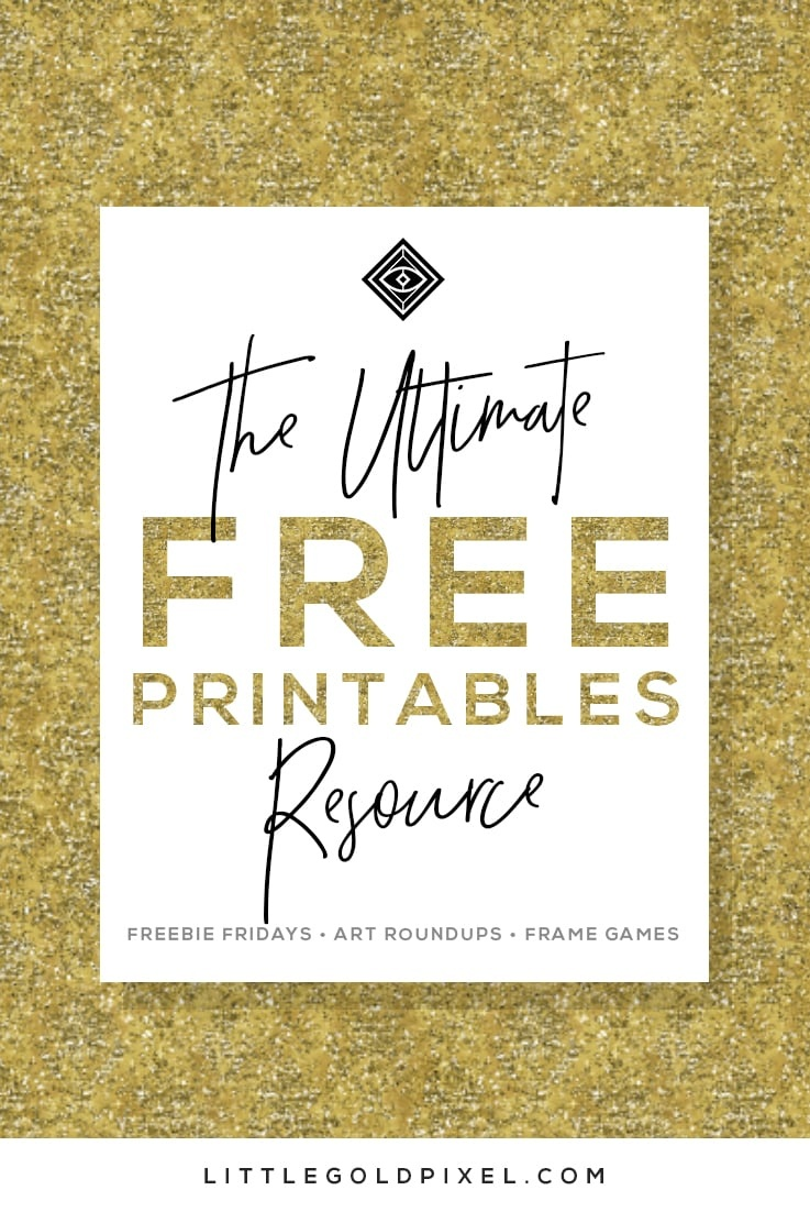 Free Printables • Free Wall Art Roundups • Little Gold Pixel - To Have And To Hold Your Hair Back Free Printable