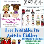 Free Printables For Autistic Children And Their Families Or   Free Printable Picture Schedule Cards