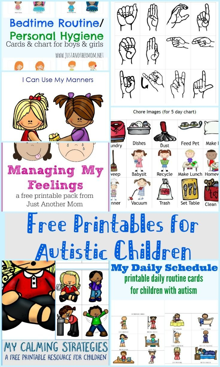 Free Printables For Autistic Children And Their Families Or - Free Printable Picture Schedule Cards