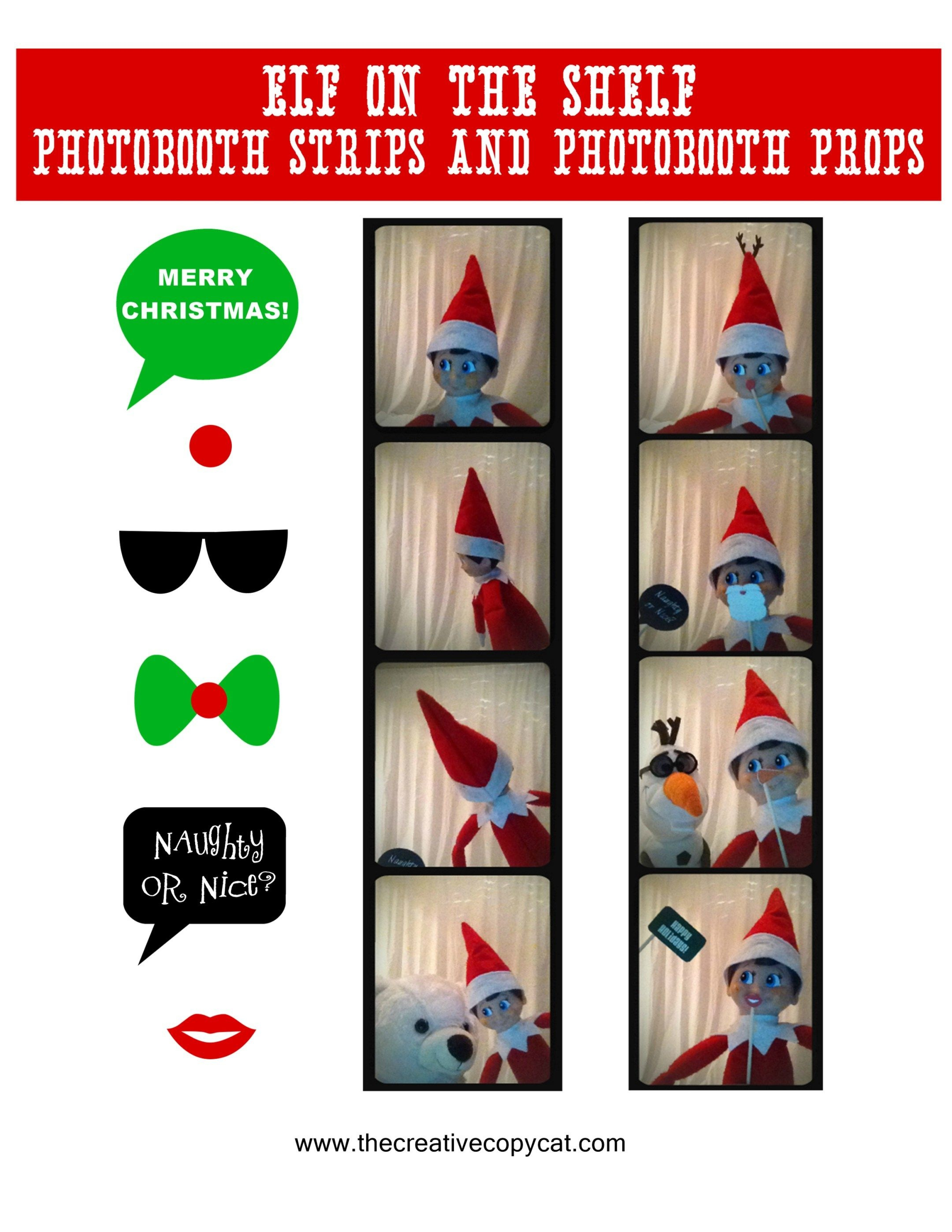 Free Printables For Elf On The Shelf Sized Photobooth Props And - Elf On The Shelf Free Printable Props