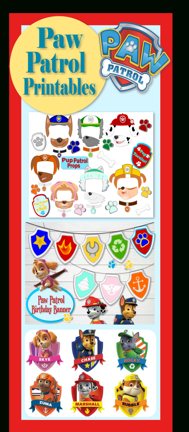 Free Printables For Paw Patrol Party. Free Paw Patrol Photo Props - Paw Patrol Free Printables