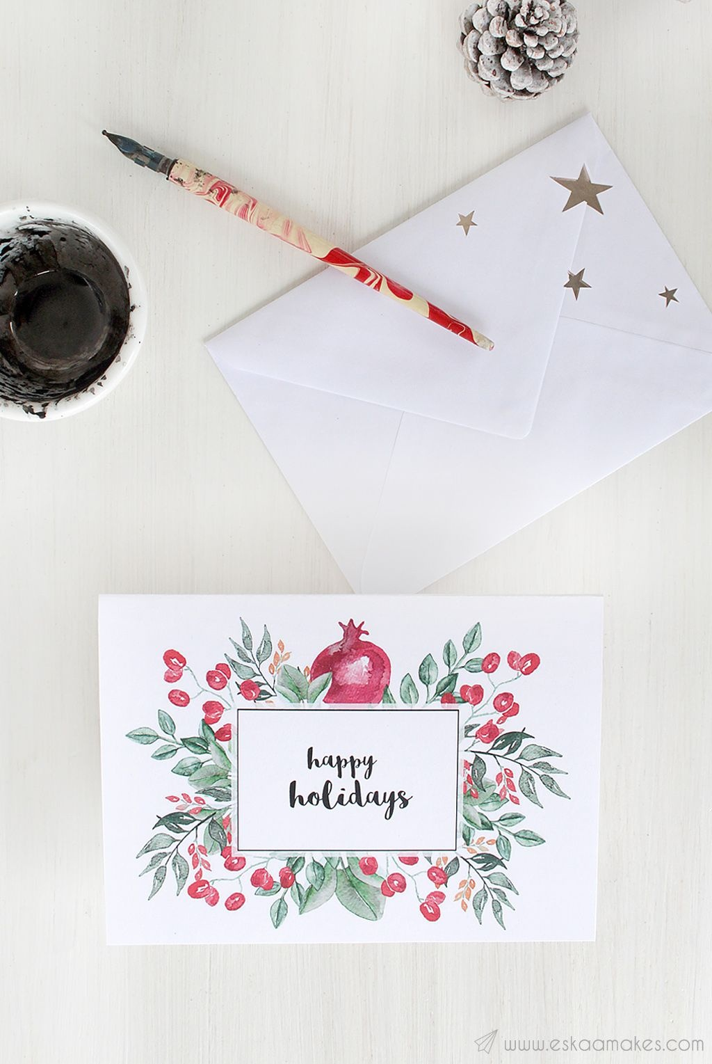 Free Printables: Two Elegant Printable Christmas Cards | Diy - Free Printable Personalized Christmas Invitations