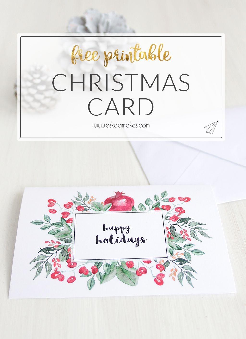 Free Printables: Two Elegant Printable Christmas Cards | The Crafty - Free Printable Xmas Cards