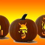 Free Pumpkin Carving Stencils   Pirate, Cat, Aztec Sun, Michael   Halloween Pumpkin Carving Stencils Free Printable