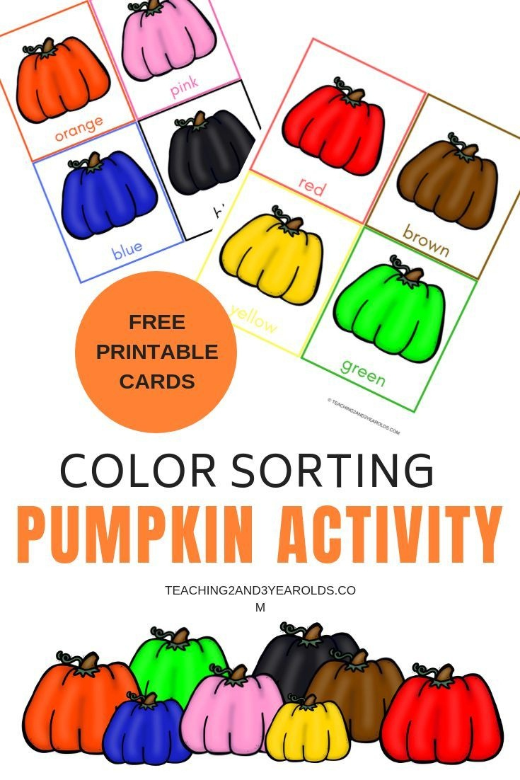 Free Pumpkin Color Sorting Printables | Lap Boards/file Folder Games - Free Printable Fall File Folder Games