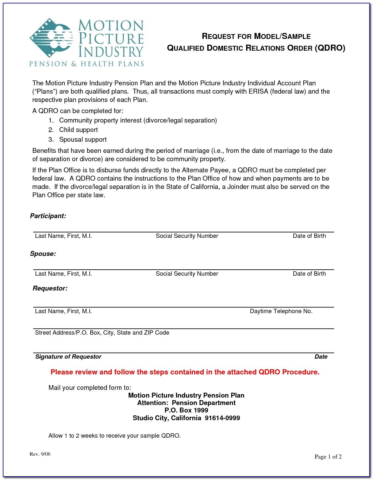 Free Qdro Forms California - Form : Resume Examples #8R2Nnxl2A7 - Free Printable Qdro Forms