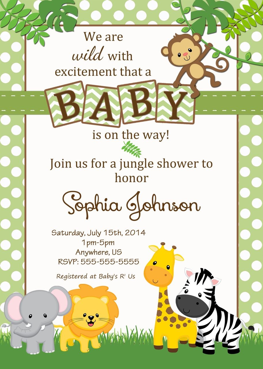 Free Safari Baby Shower Invitations - Google Search | Baby Opie Baby - Free Printable Jungle Safari Baby Shower Invitations