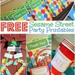 Free Sesame Street Birthday Party Printables   Free Sesame Street Printables