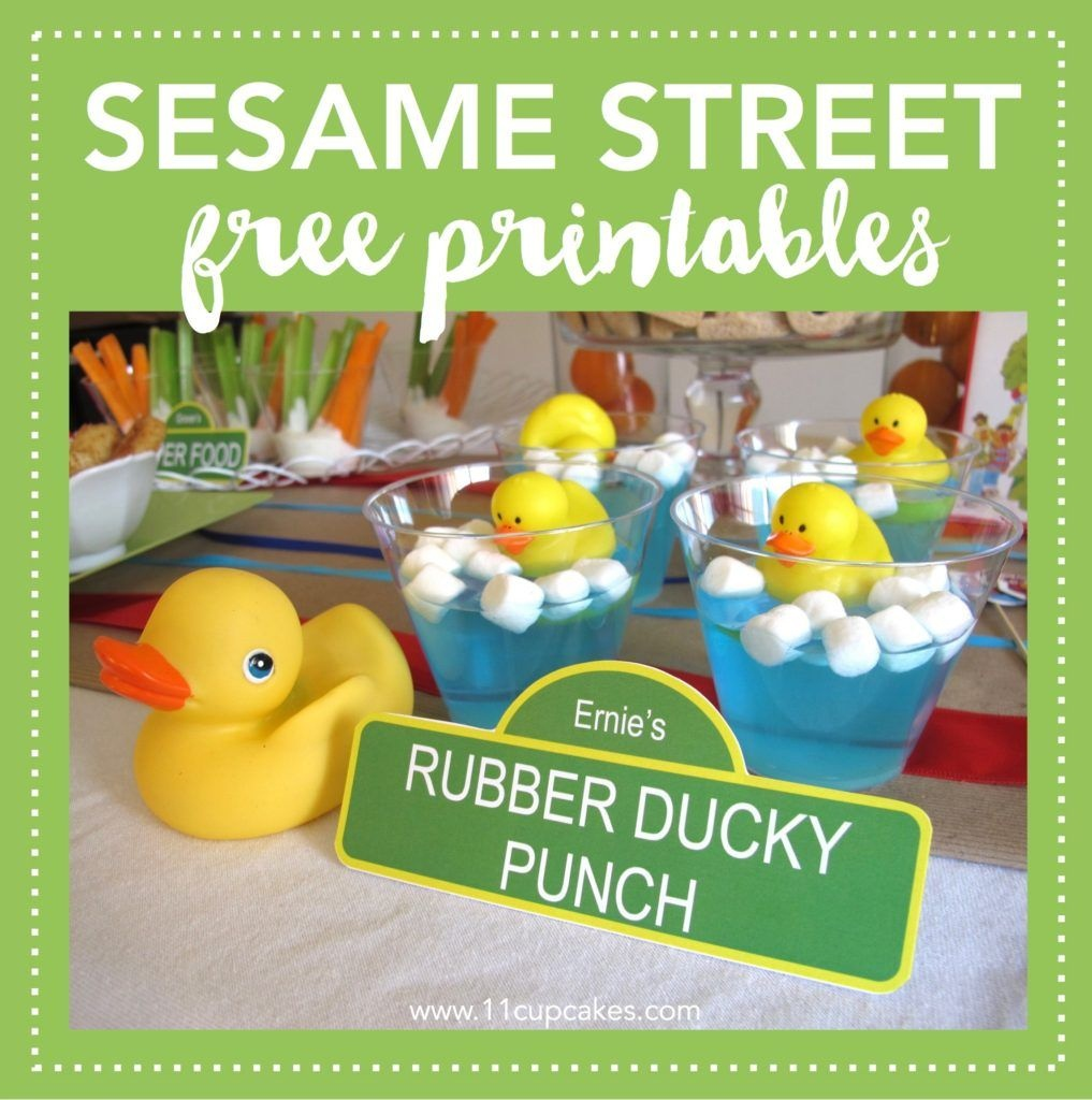 Free Sesame Street Party Labels | Sesame Street Birthday Party - Free Sesame Street Printables