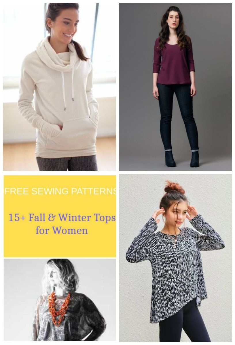 Free Sewing Patterns: 15 + Fall And Winter Tops Patterns For Women - Free Printable Plus Size Sewing Patterns