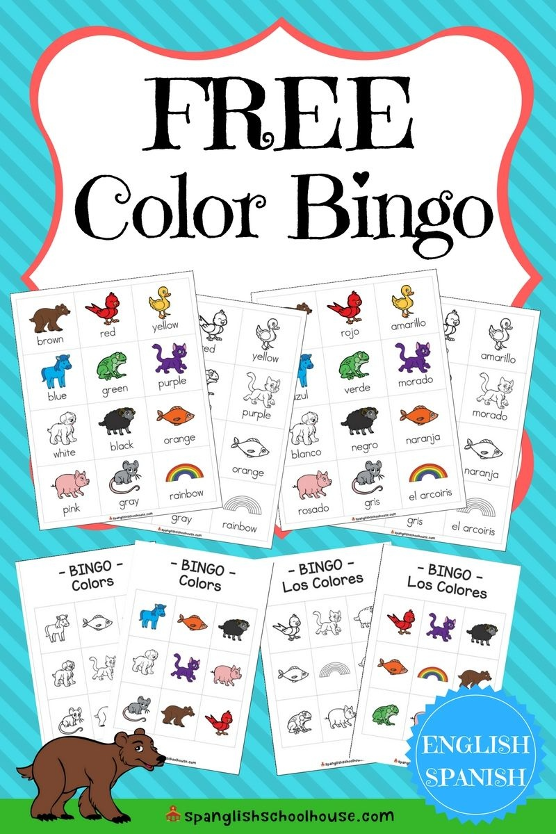 Free Spanish Color Printables {60 Pages Of Color Fun} | Spanglish - Free Printable Spanish Bingo Cards