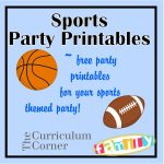 Free Sports Party Printables Include Candy Bar Wrappers, Water   Free Printable Basketball Cards