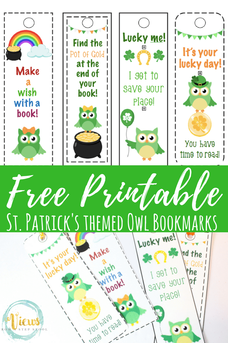 Free St. Patrick's Day Printable Bookmarks With Cute Owls - Free Printable Owl Bookmarks