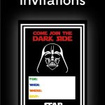 Free Star Wars Party Printables: A No Stress Way To A Galactic Party   Star Wars Invitations Free Printable