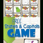 Free State Capitals Game   123 Homeschool 4 Me   Free Printable States And Capitals Worksheets
