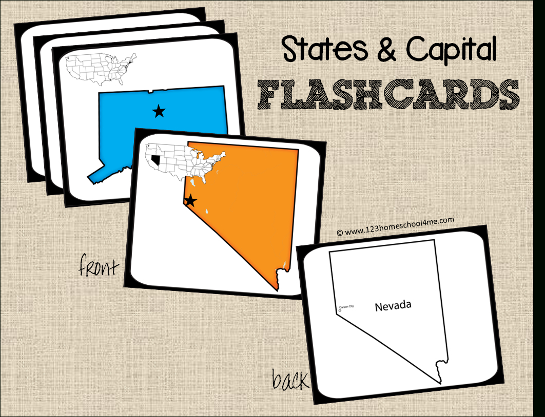 Free State Capitals Game | Cc: Misc | Pinterest | States And - State Capital Flashcards Printable Free