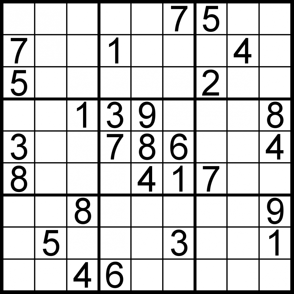 Free Sudoku For Your Local Publications! – Sudoku Of The Day - Free Printable Sudoku Easy