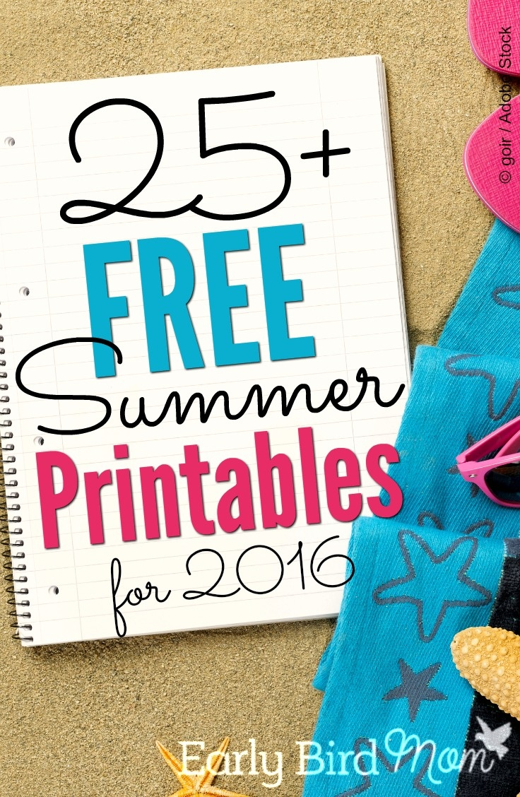 Free Summer Printables And Checklists For Families - Free Summer Printables