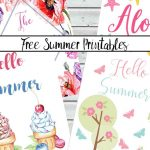 Free Summer Printables: Celebrate With Bright Decor Printables   Free Summer Printables
