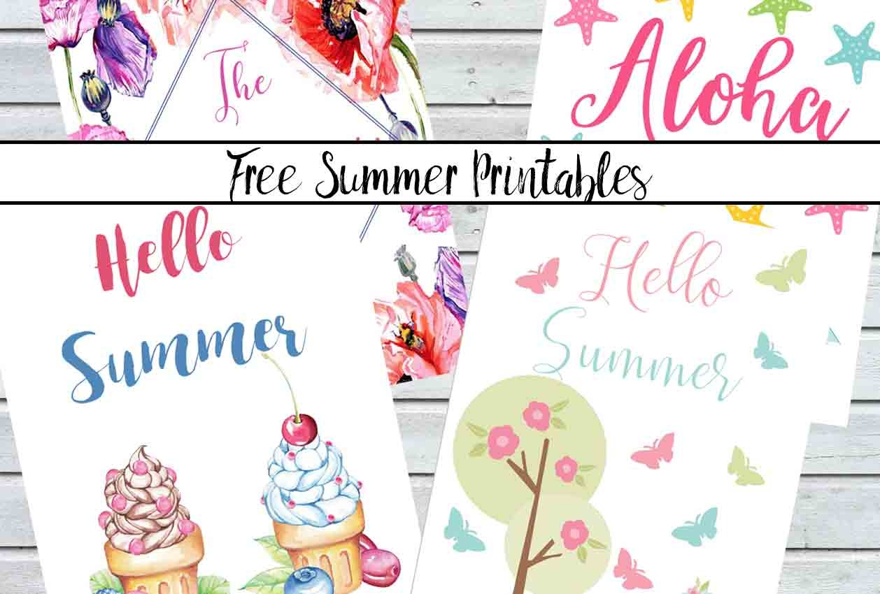 Free Summer Printables: Celebrate With Bright Decor Printables - Free Summer Printables