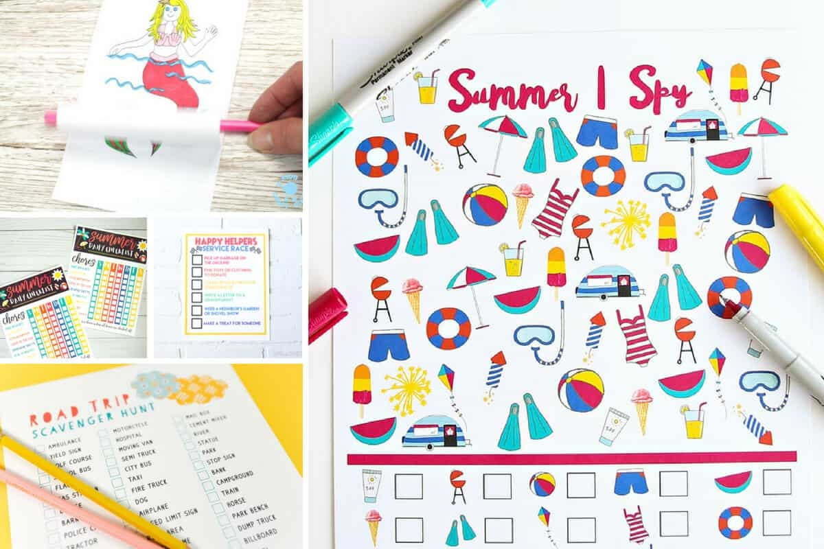 Free Summer Printables - Collection 4 - 5 Minutes For Mom - Free Summer Printables
