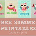 Free Summer Printables   Free Summer Printables