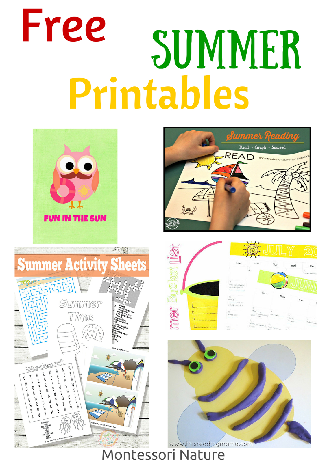 Free Summer Printables - Montessori Nature - Free Summer Printables