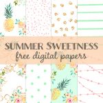 Free Summer Sweetness Digital Paper | Best Free Digital Goods   Free Online Digital Scrapbooking Printable