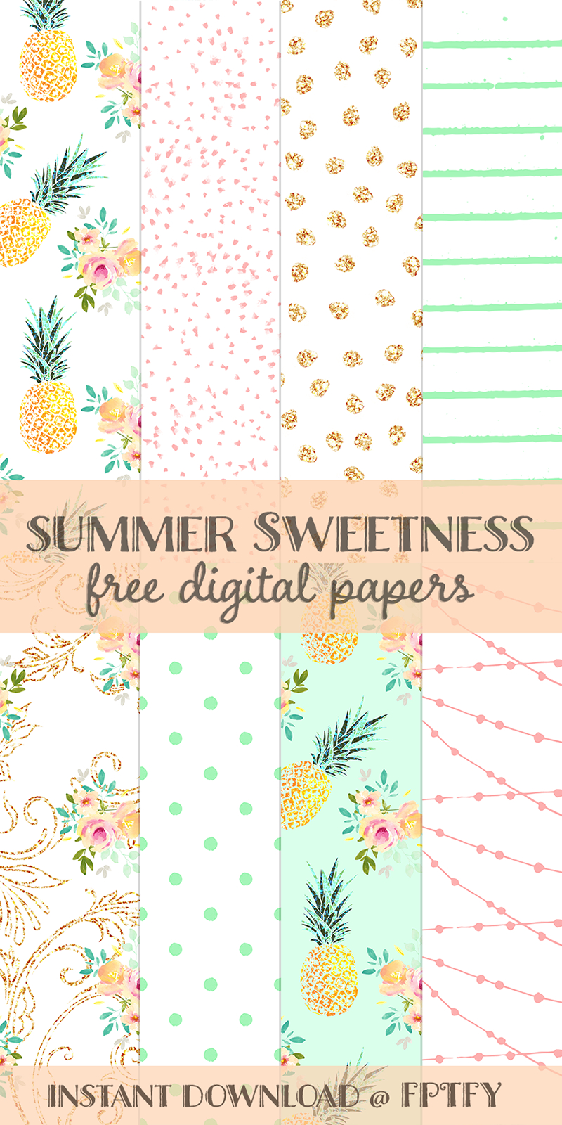 Free Summer Sweetness Digital Paper | Best Free Digital Goods - Free Online Digital Scrapbooking Printable