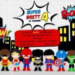 Free Superhero Birthday Party Invitation Templates | Birthday Party   Free Printable Superman Invitations