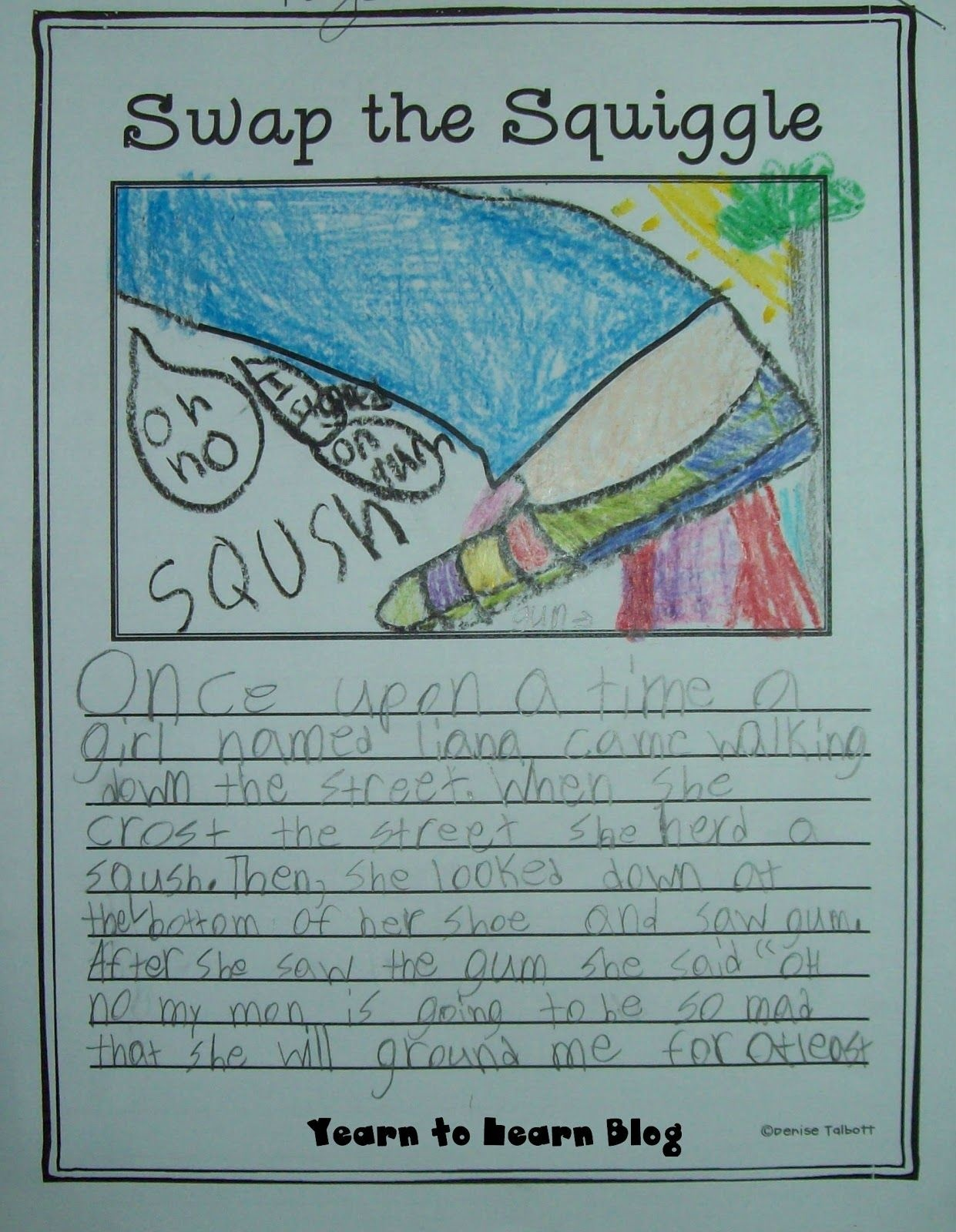 Free Swap The Squiggle Writing Download This Is A Student Example - Free Squiggle Story Printable