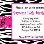Free Sweet 16 Birthday Invitation Templates | Birthday Ideas   Free Printable Sweet 16 Birthday Party Invitations
