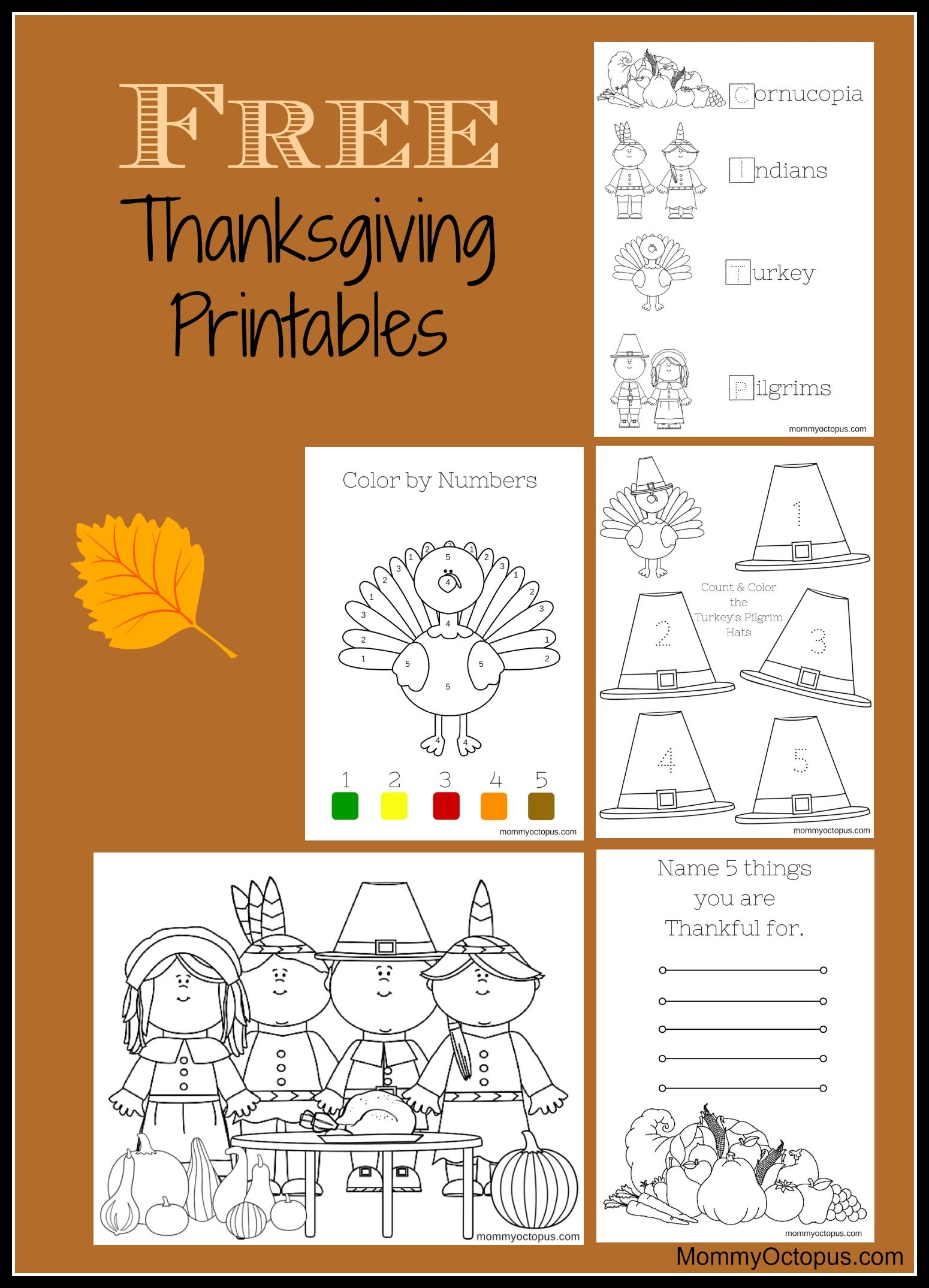Free Thanksgiving Printable Activity Sheets! | Thanksgiving & Fall - Free Printable Kindergarten Thanksgiving Activities
