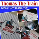 Free Thomas The Train Engine Birthday Party Printables   Passion For   Free Printable Thomas The Train Cupcake Toppers