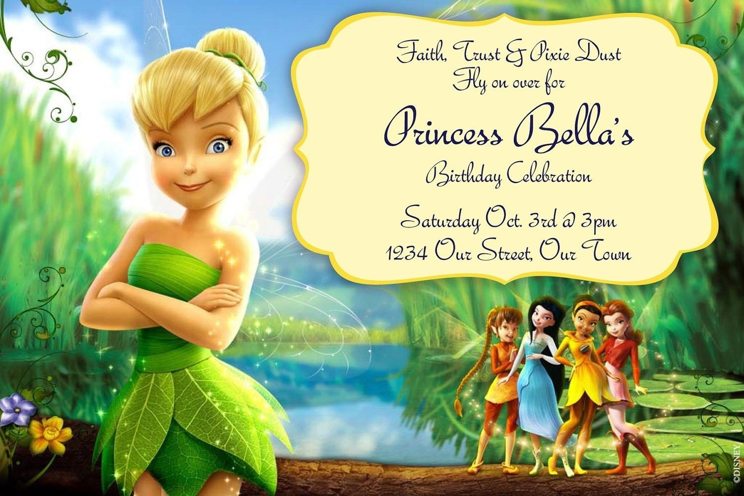 Free Tinkerbell Birthday Invitation Templates | Birthdays - Free Tinkerbell Printable Birthday Invitations