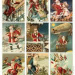 Free To Download! Printable Vintage Santa Tags Or Cards. | Free   Free Printable Vintage Christmas Images