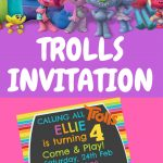 Free Trolls Digital Invitation | Trolls Maia | Birthday Party   Free Trolls Photo Booth Props Printable