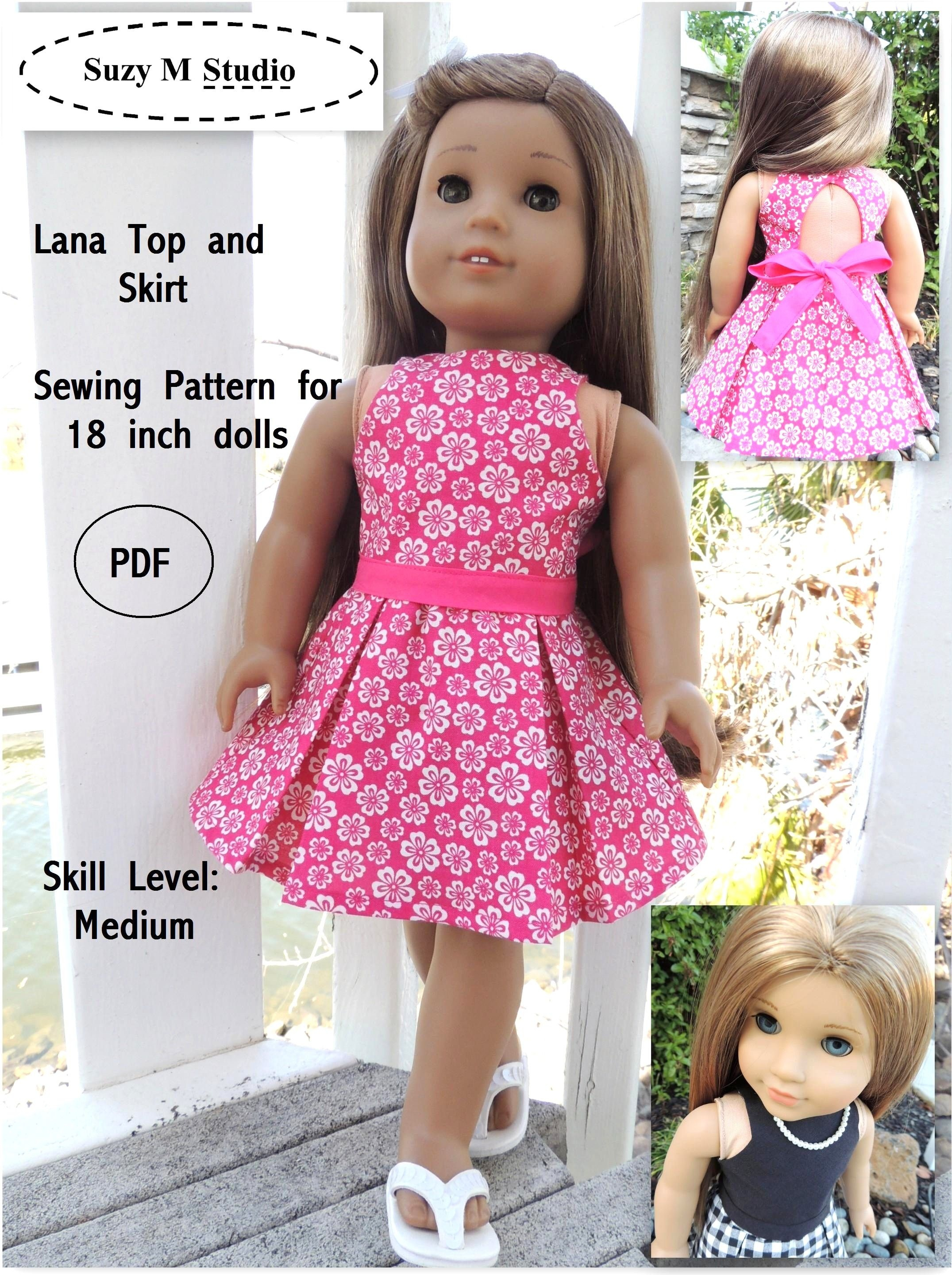 Free Tutorial Pdf | Suzymstudio … | Doll Clothes | Girl … - Free Printable Sewing Patterns For 18 Inch Doll Clothes