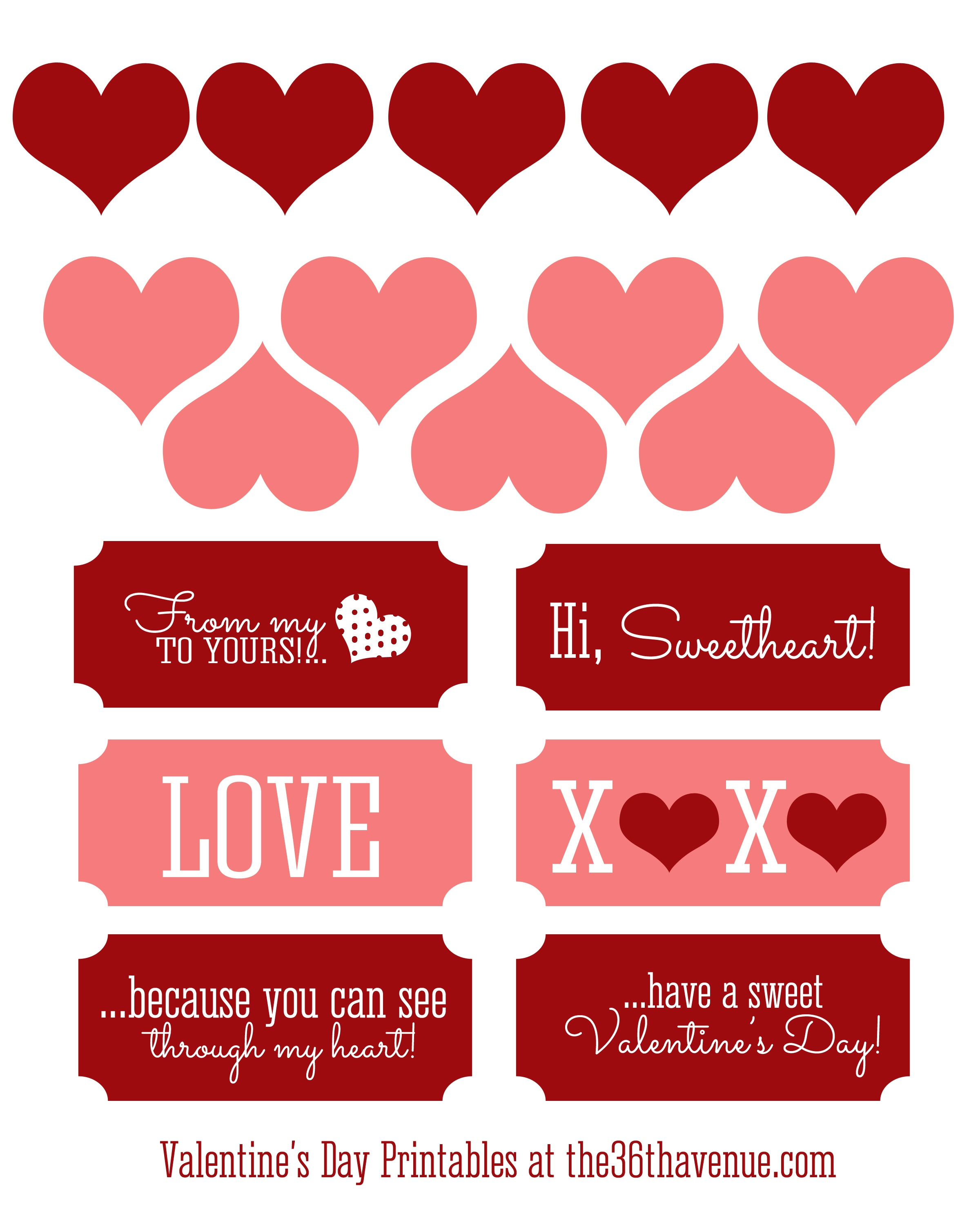 Free Valentine Printable And Heart Candy Jar - The 36Th Avenue - Free Valentine Printables