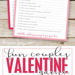 Free Valentines Couples Game Cards   Aspen Jay   Free Valentine Printable Cards For Husband