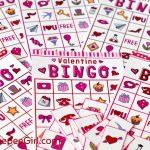 Free Valentines Day Printable Bingo Game   Valentine Bingo Free Printable