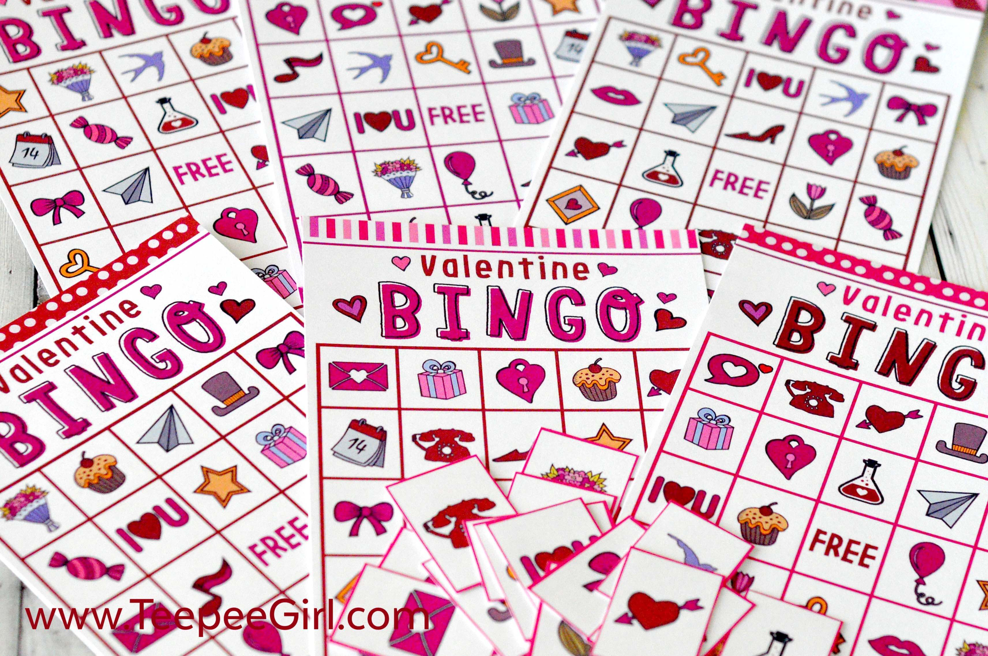 Free Valentines Day Printable Bingo Game - Valentine Bingo Free Printable