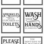 Free Vintage Bathroom Printables | Diy | Vintage Bathrooms, Diy Home   Free Printable Bathroom Signs