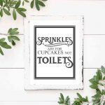 Free Vintage Bathroom Printables   The Mountain View Cottage   Free Printable Funny Bathroom Signs