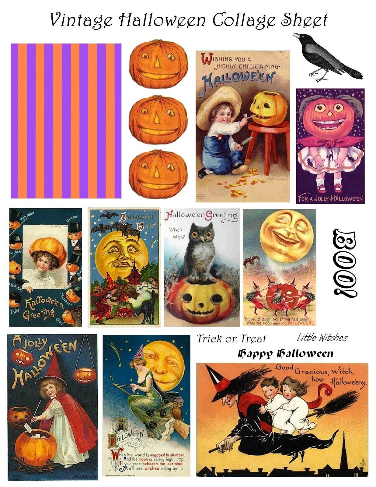 Free Vintage Digital Stamps**: Free Vintage Printable - Halloween - Free Vintage Halloween Printables