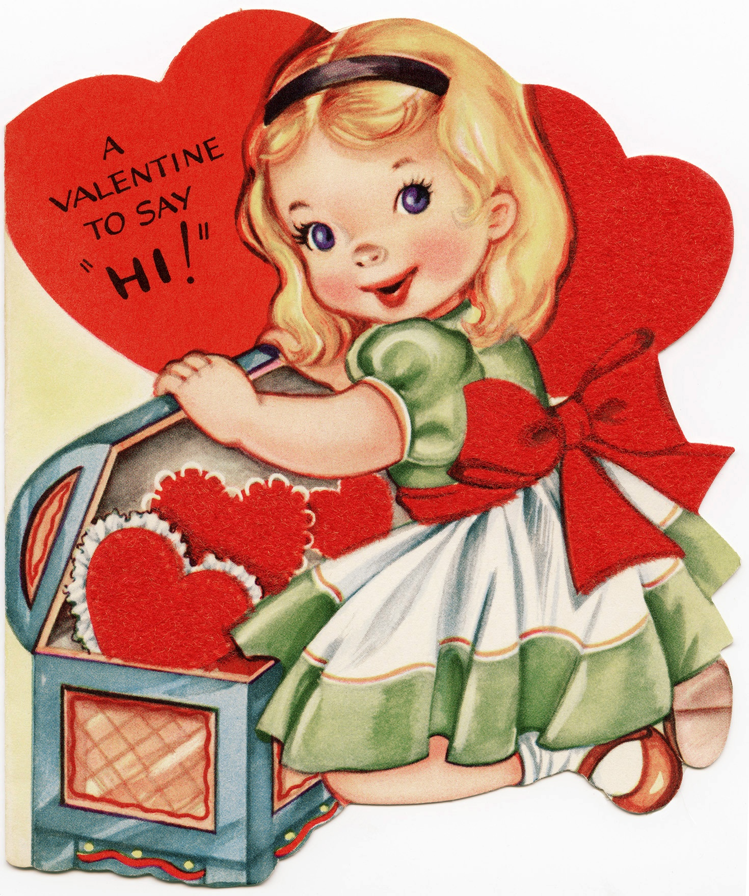 Free Vintage Image ~ A Valentine To Say Hi! - Old Design Shop Blog - Free Printable Vintage Valentine Pictures