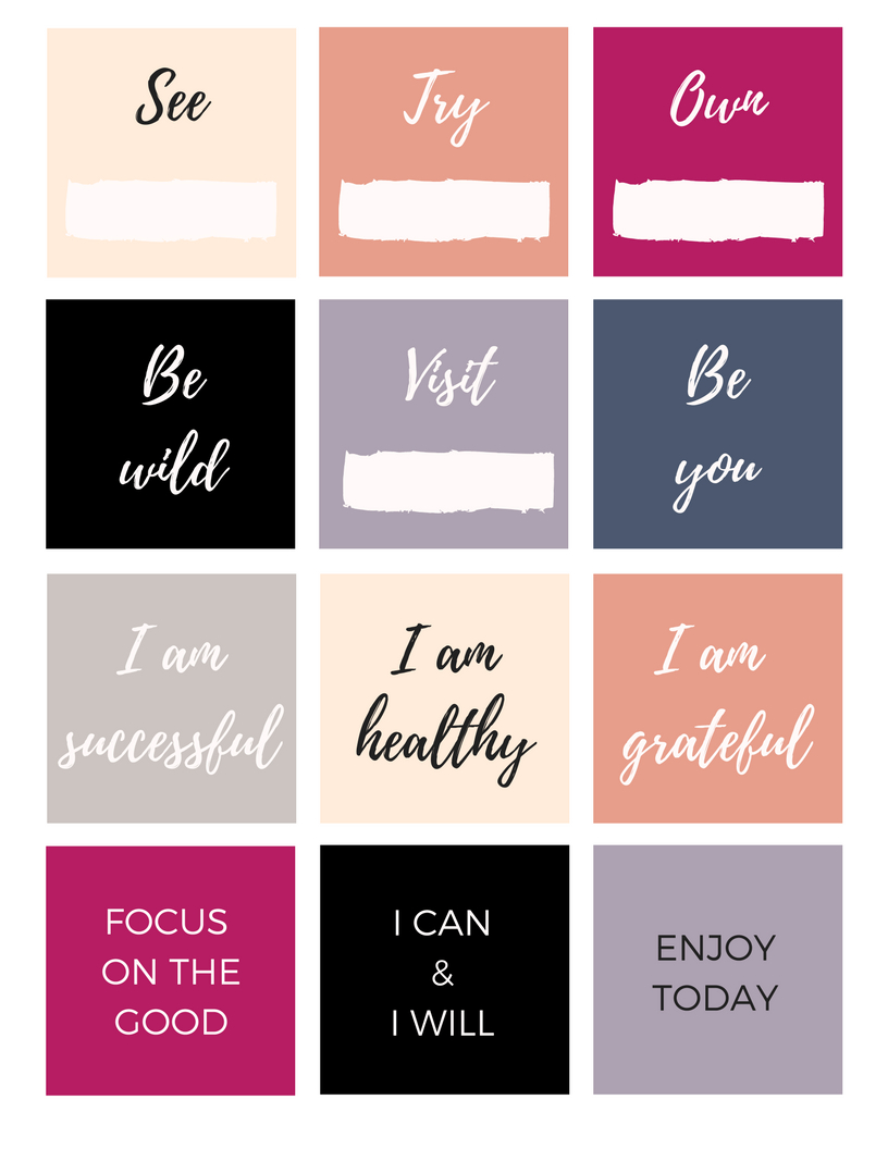 Free Vision Board Printables #visionboard #freedownload   Staying - Free Weight Loss Vision Board Printables