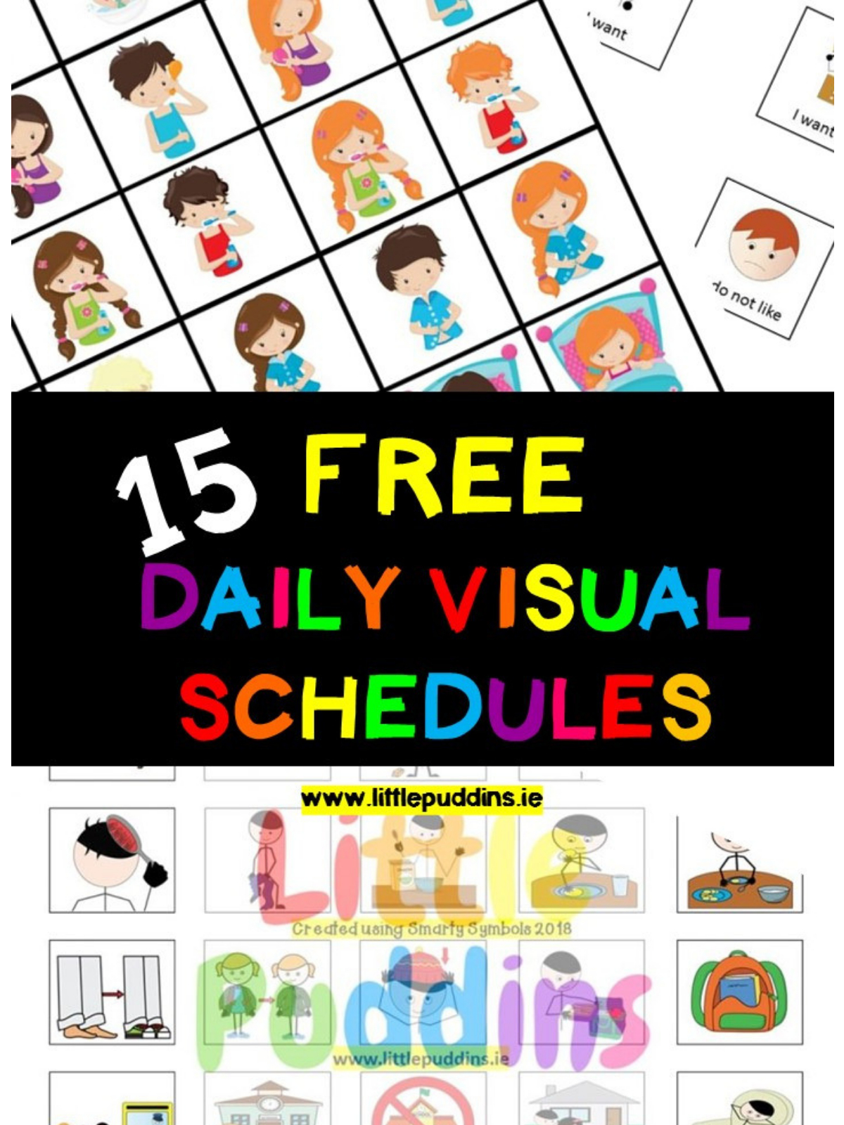 Free Visual Schedules – Little Puddins Free Printables - Free Printable Picture Schedule For Preschool