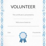 Free Volunteer Appreciation Certificates — Signup   Free Printable Volunteer Certificates Of Appreciation