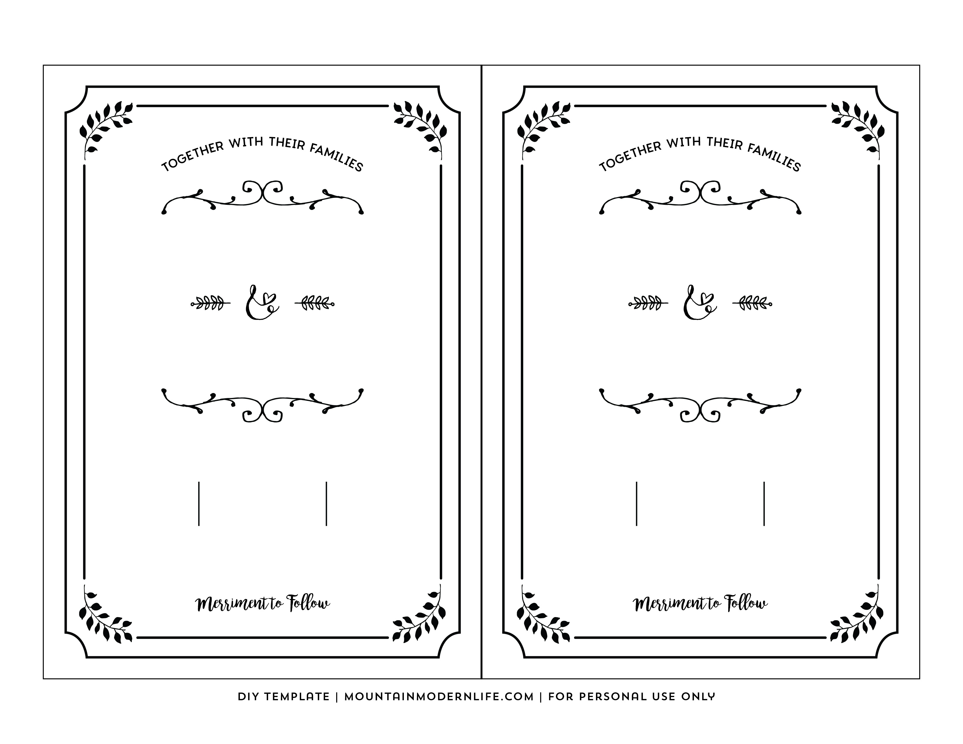 Free Wedding Invitation Printable Templates Free Printable Wedding - Free Wedding Printables Templates